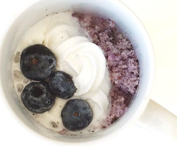 college dessert ideas - mug cake