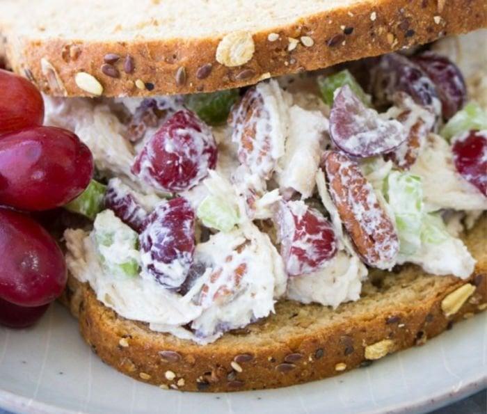 college dinner ideas - healthy chicken salad