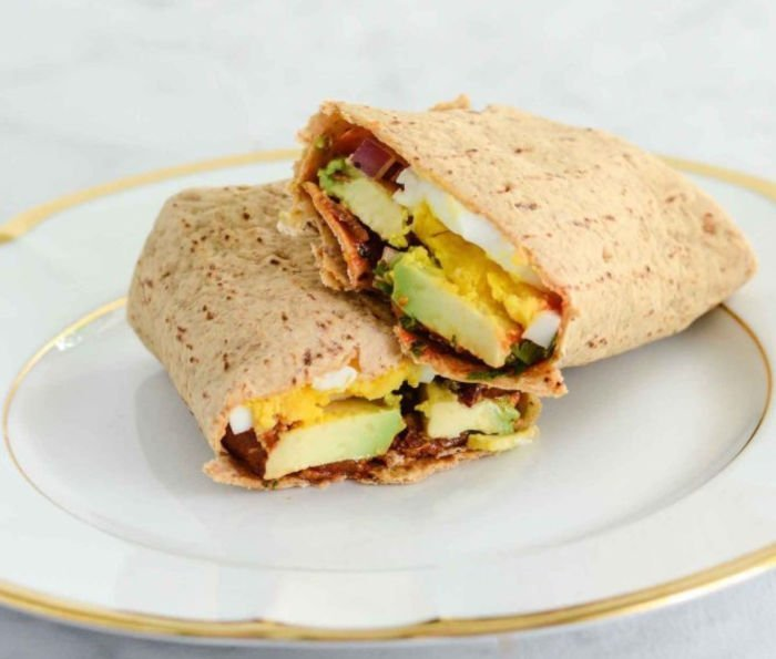 college lunch ideas - egg wrap