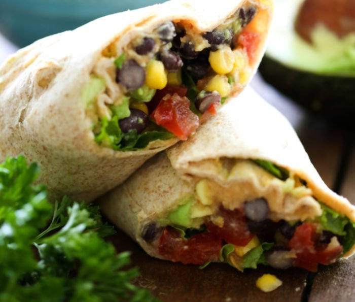 easy healthy meals for college students - southwest wraps