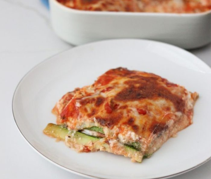 easy healthy meals for college students - zucchini lasagna