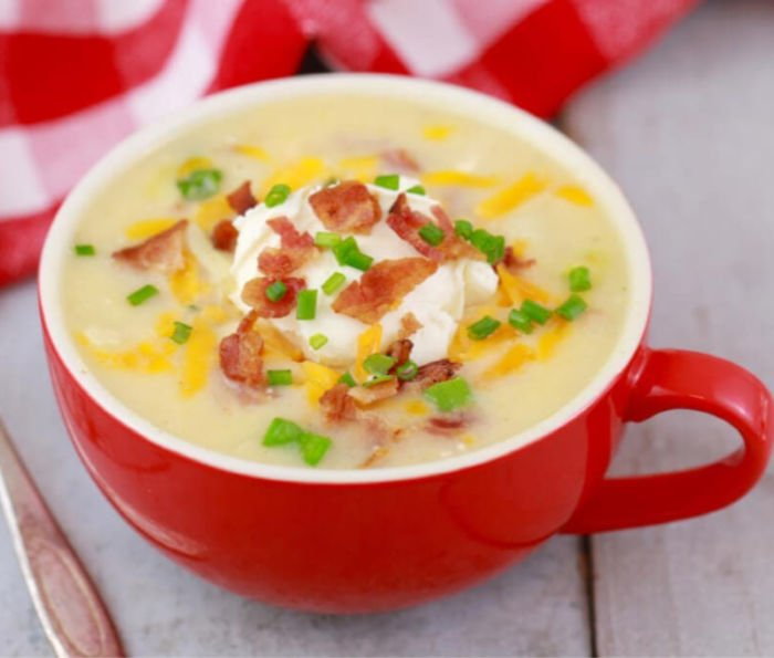 easy healthy meals - potato soup mug