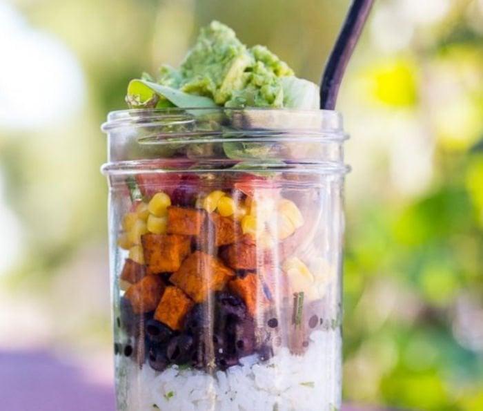 healthy-college-meals-vegan-burrito-bowl-jar