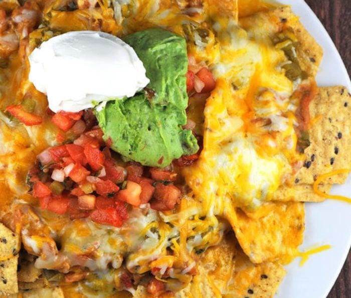 healthy college recipe - microwave nachos