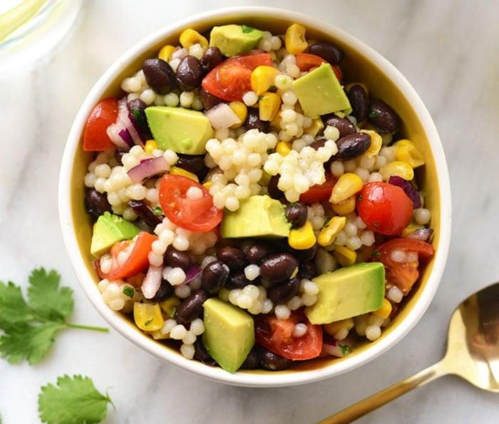 healthy easy lunch - SOUTHWESTERN BLACK BEAN COUSCOUS SALAD