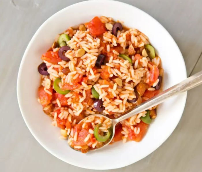 healthy meals for students - spanish rice