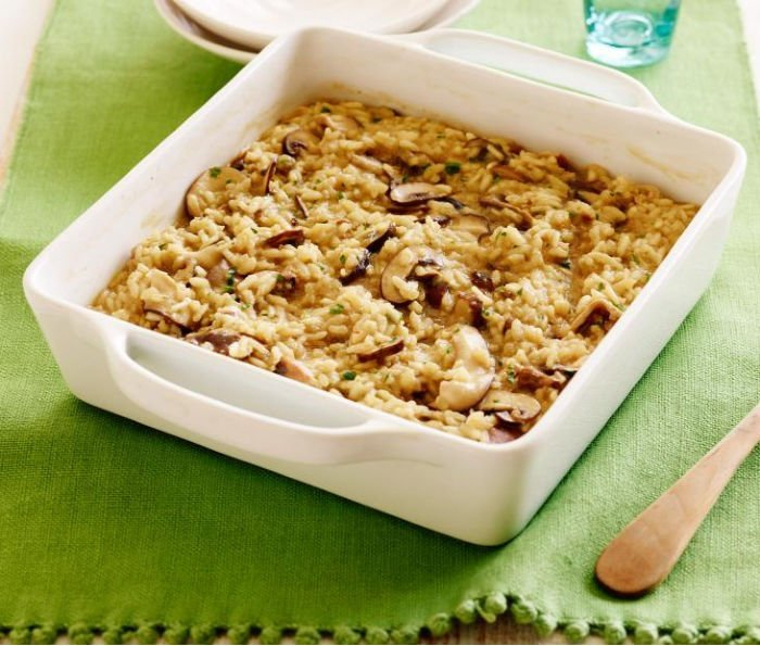 healthy recipes college students - mushroom risotto