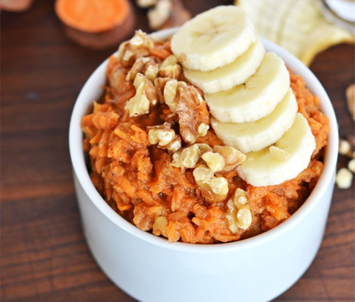 healthy recipes for college students - sweet potato oats