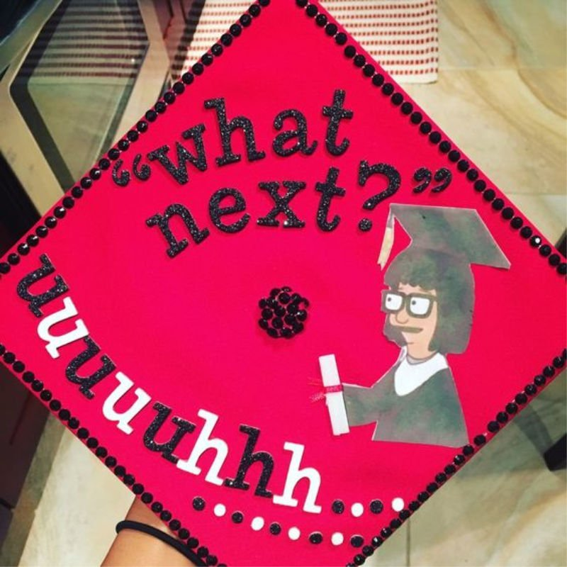 funny ideas for graduation caps - bob's burgers