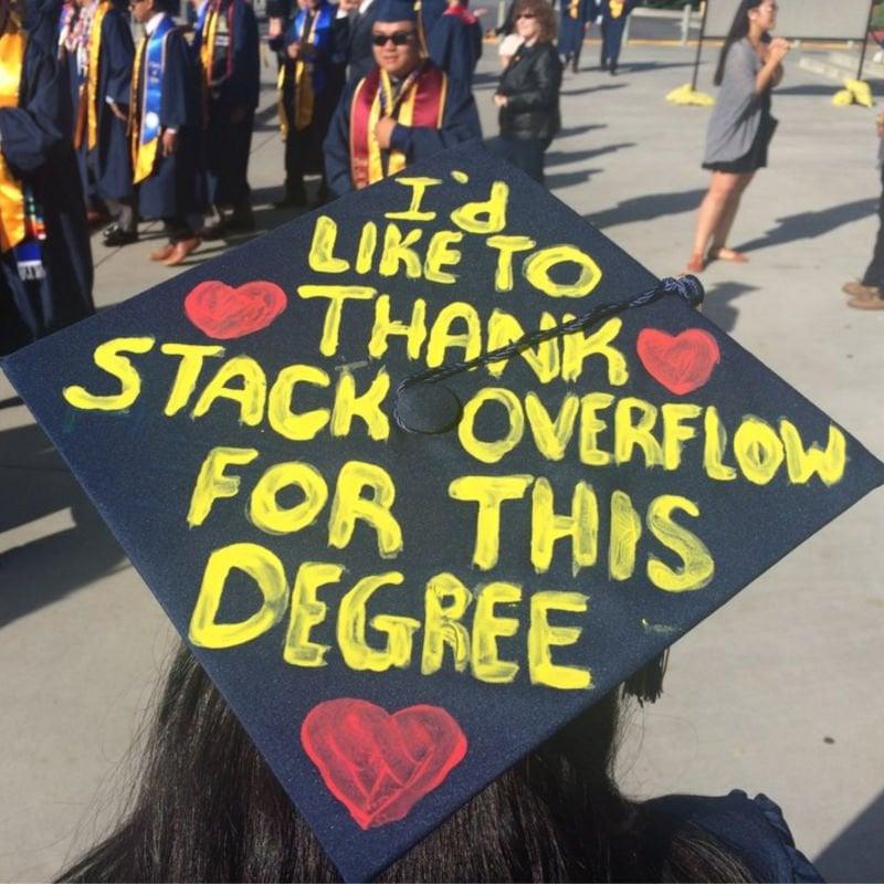 funny graduation cap decorations - stack overflow