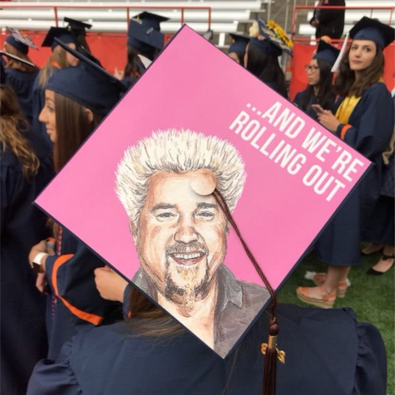 funny cap decorations for graduation - guy fieri