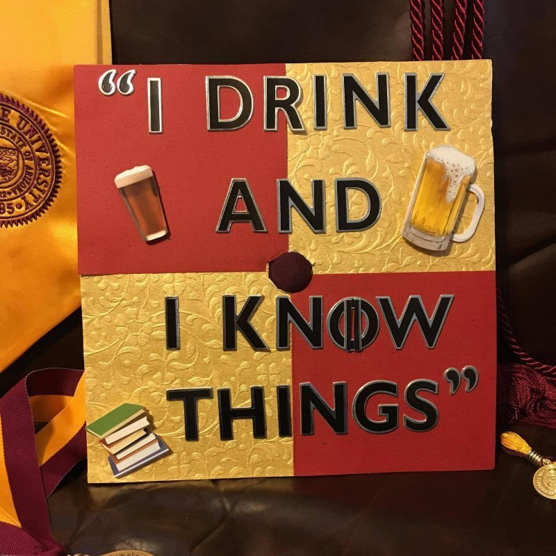 graduation cap funny ideas - game of thrones