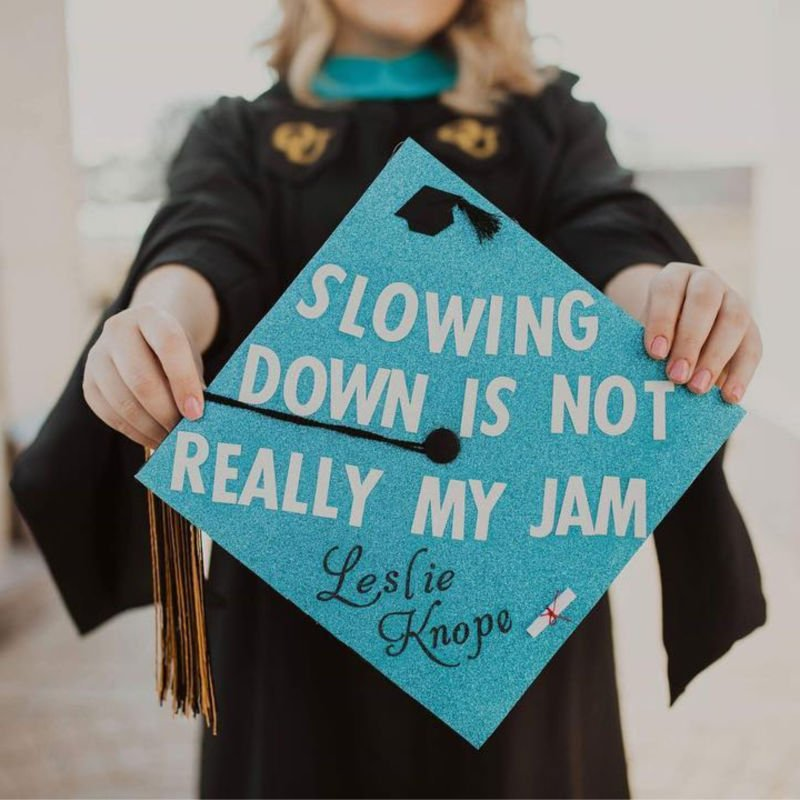 grad caps funny - parks and recreation