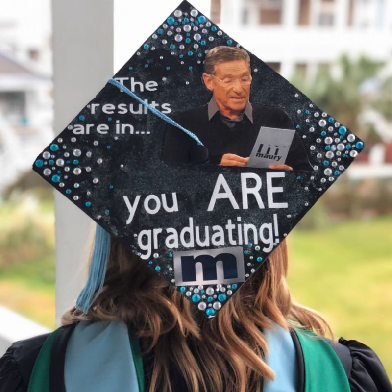 graduation cap funny ideas - maury