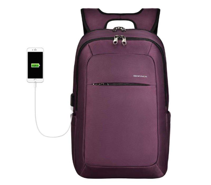 Purple laptop backpacks for girls