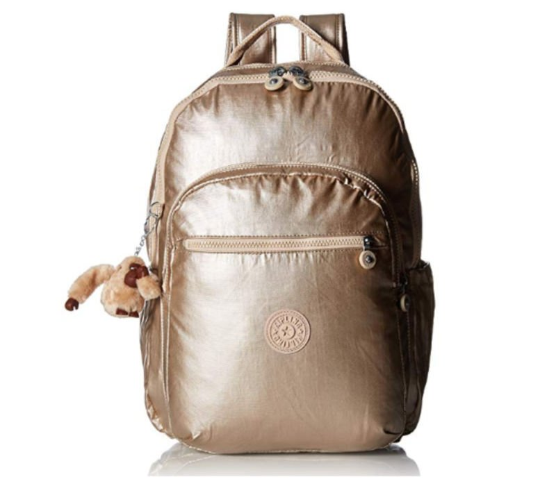 Cutest backpacks for college - gold Kipling