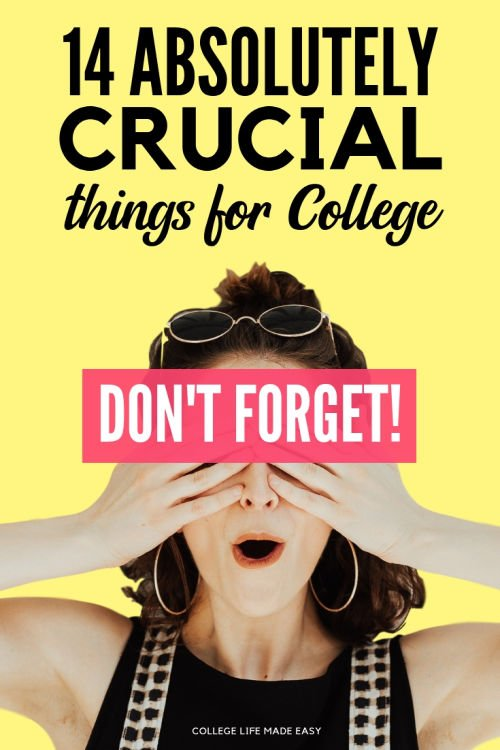 Are you forgetting something?? Make you're packing these 14 things for college or else you'll miss them big time during freshman year. Click to see what you need to get! #college #collegelife #collegestudent #student #studentlife #backtoschool #dorm #dormlife #student #freshman #collegetips #essentials
