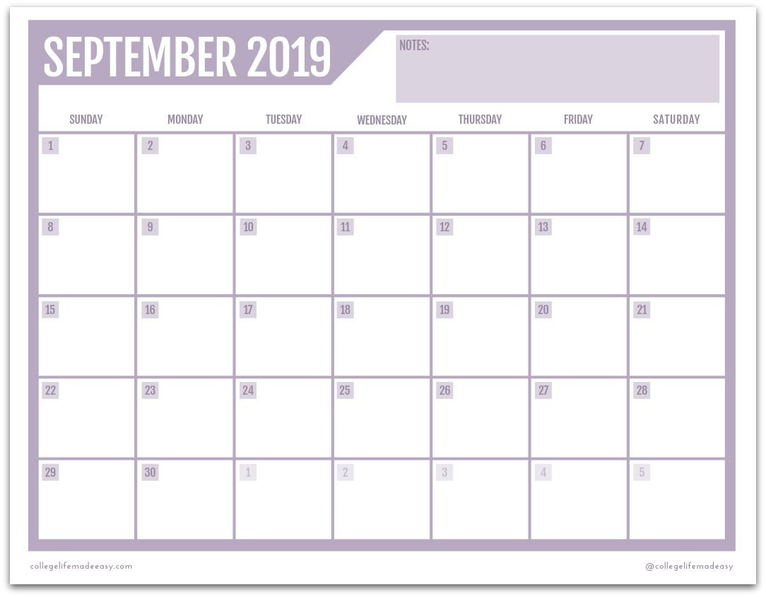 photograph about Printable Monthly Calendars referred to as Free of charge Printable 2019 Month-to-month Calendar (3 Lovable Models!)