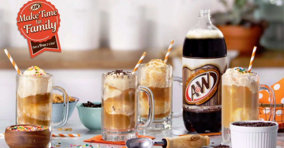 a&w root beer 2 liter and floats