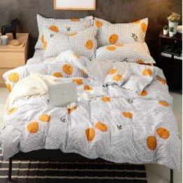orange print sheet set