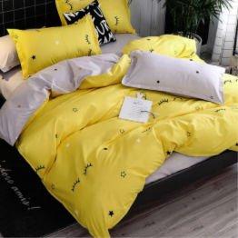 yellow eyelash duvet & sheet set