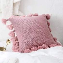 pink decorative pillow