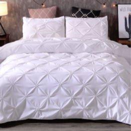 white satin bedding set