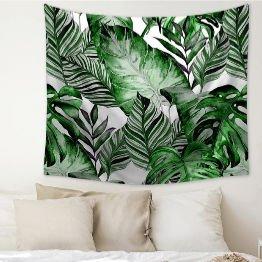 tropical jungle leaf dorm tapestry