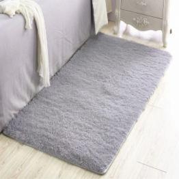 furry grey rug