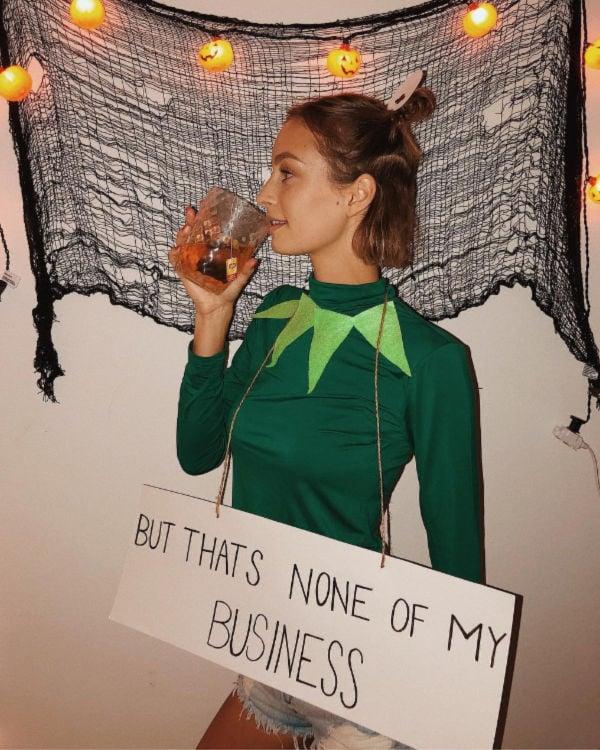 funny Kermit tea Halloween costume