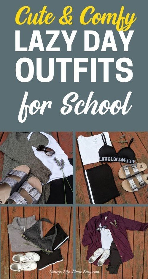 cute & comfy lazy day outfits for school