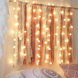 hanging fairy lights