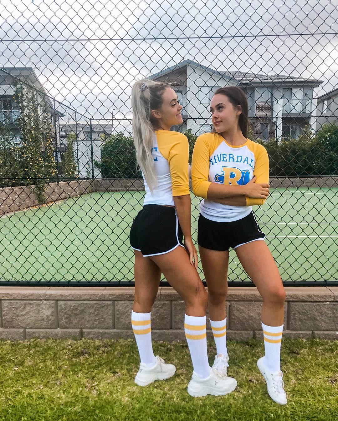 Riven two girls in Vixens Halloween costume