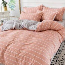reversible grey and orange bedding