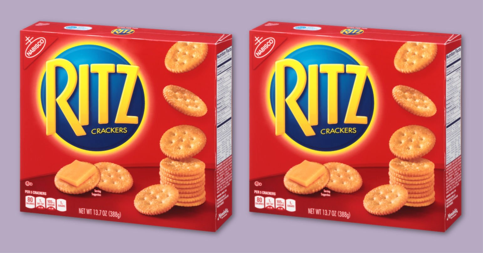two boxes of Ritz crackers