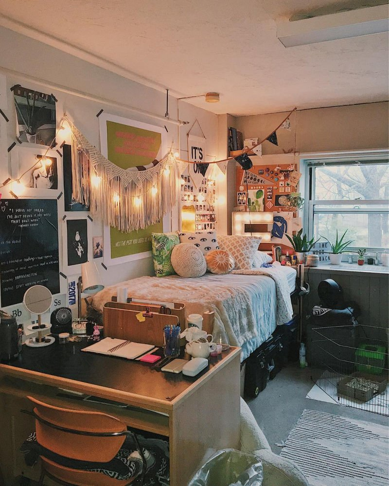 Ideas For Dorm Room: Cute Dorm Rooms: 18 Swoon-Worthy Ideas (Handpicked For 2020