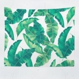 Tropical Tapestry, Banana Leaf Wall Hanging, Tropical Leaves Backfdrop, Tropical Leaf Tapestry