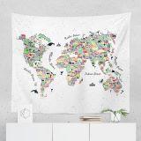 World Map Tapestry   Map Tapestry   World Map Wall Tapestry   Map Wall Tapestry   World Map Wall Decor   World Map Gift   World Map Wall Art