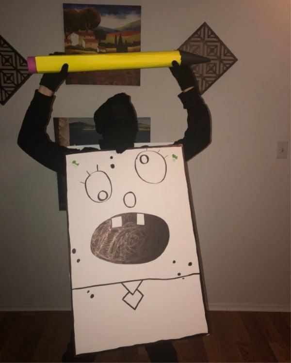 DIY doodle bob Halloween costume