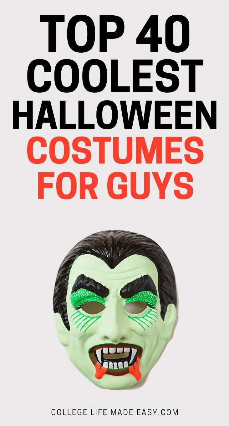 top 40 coolest halloween costumes for guys, vampire mask