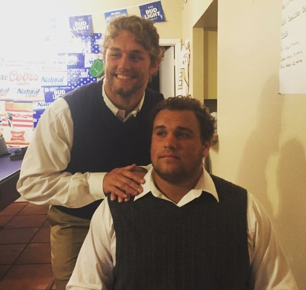 guys in step brothers inspired costumes