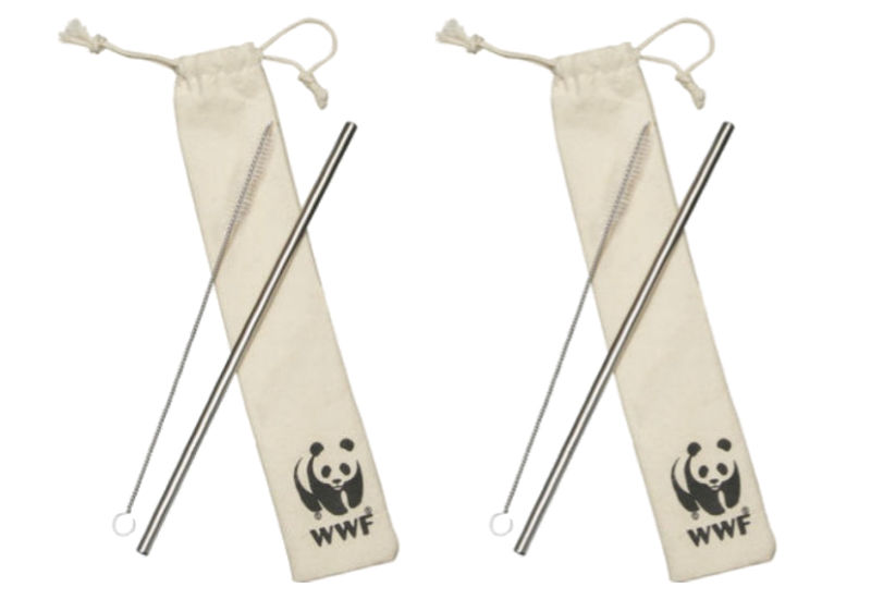 free reusable metal straw kit from World Wildlife Fund (WWF)
