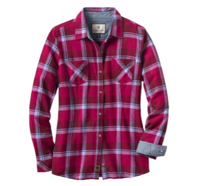 berry plaid flannel t-shirt
