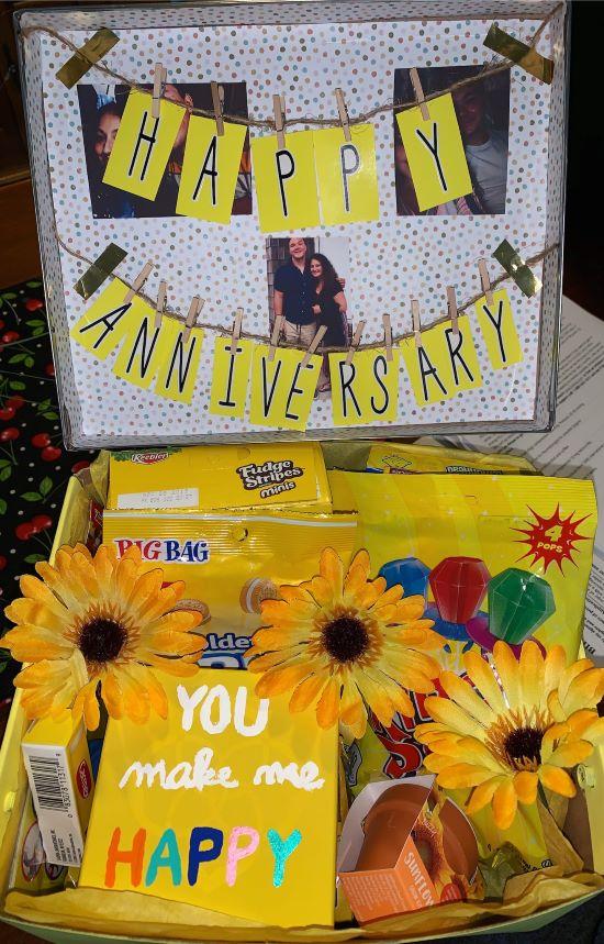 the inside of the anniversary sunshine box