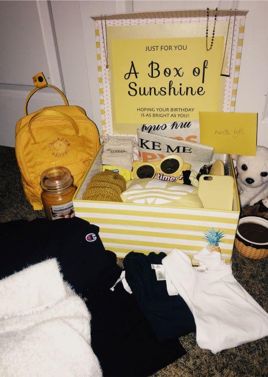 cute gift box for a vsco girl's birthday
