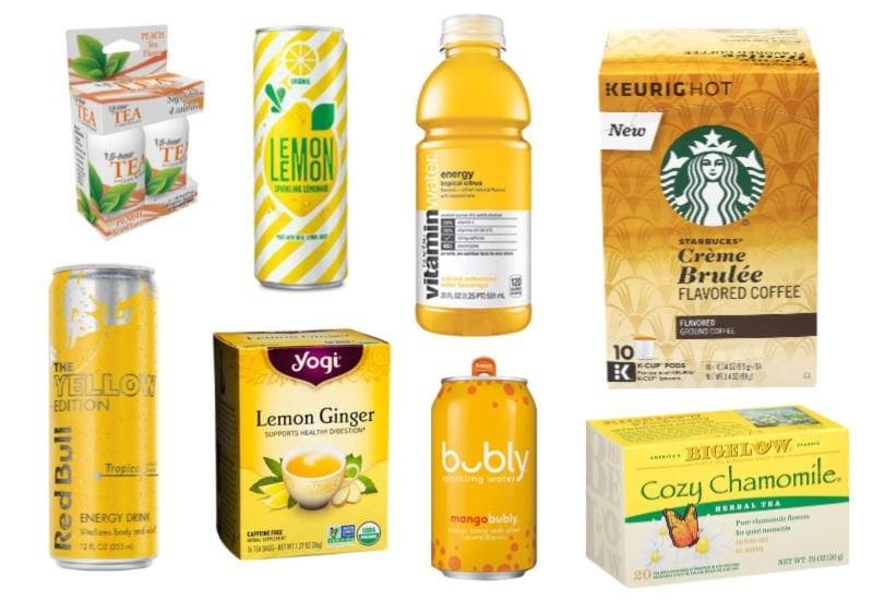 yellow drinks that make great box of sunshine items