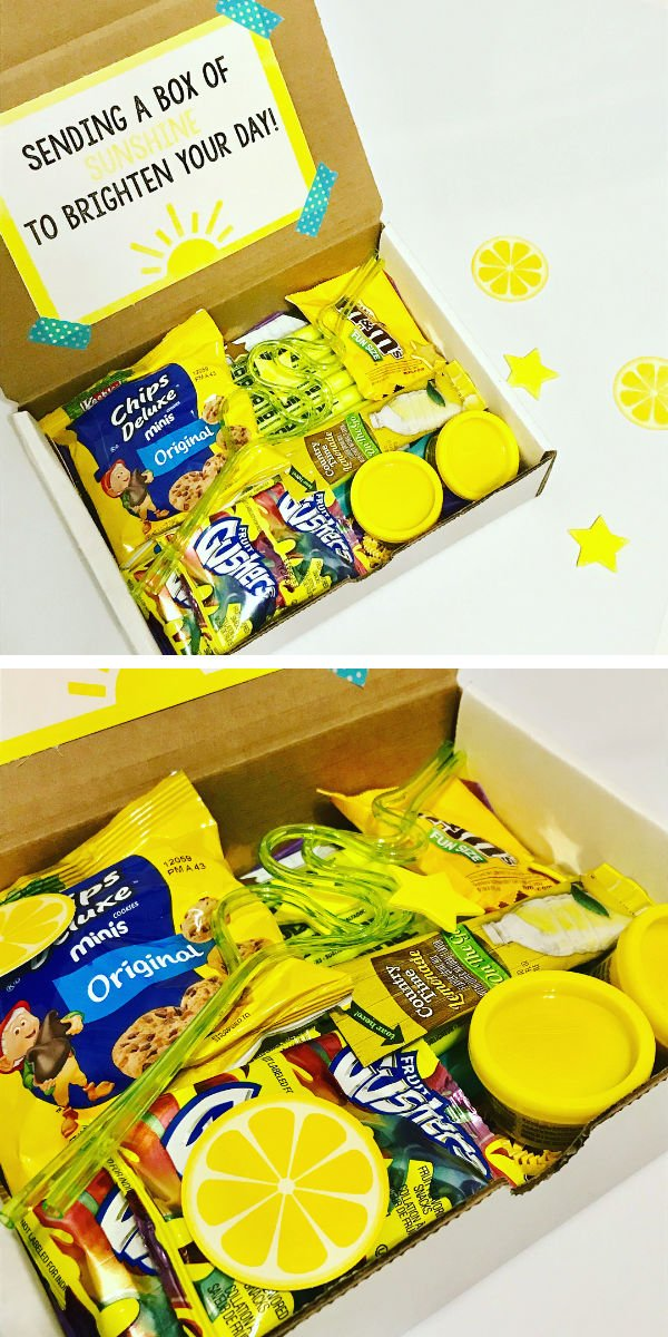 yellow snacks in the mail to brighten your day