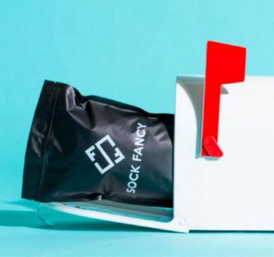 sock fancy package in a mail box