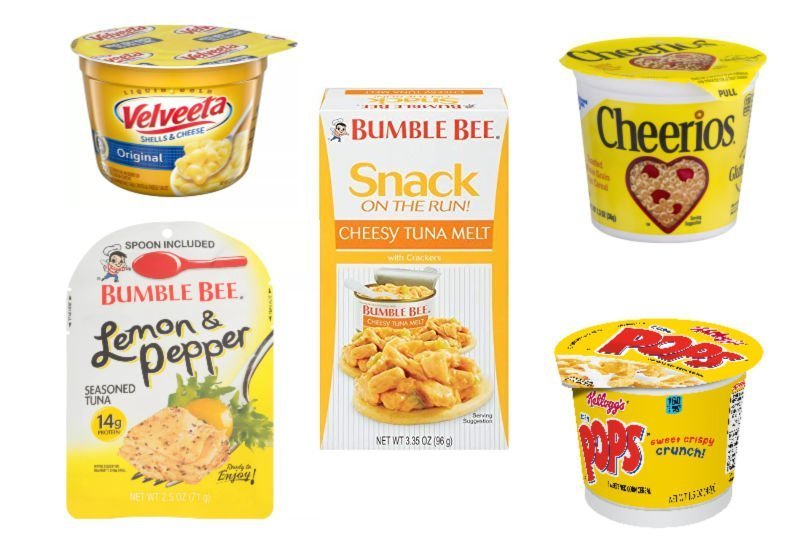foods with yellow packaging (sunshine box ideas)