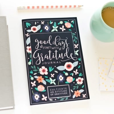 Good Days Start With Gratitude is a good cheap college girl gift for Christmas